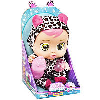 Игрушка Кукла - Пупс Baby Lovely говорящая с бутылочкой и пустышкой плачет Cry смеется Живые фото