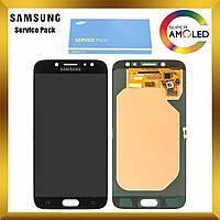 Дисплей (экран) Samsung J730 Galaxy J7 2017 с сенсором (тачскрином) Черный Black оригинал