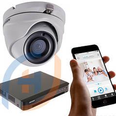 Система видеонаблюдения на 8 камер с аналитикой HIKVISION, 5 мп