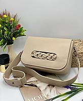Жіноча сумка на плече 112 бежевий Жіночі клатчі Жіночі сумки купити оптом в Україні, фото 1