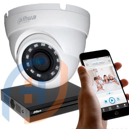 Система відеоспостереження на 8 камер DAHUA, 5 мп