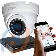 Система видеонаблюдения на 8 камер DAHUA, 5 мп