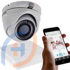 Система видеонаблюдения на 4 камеры HIKVISION, 5 мп
