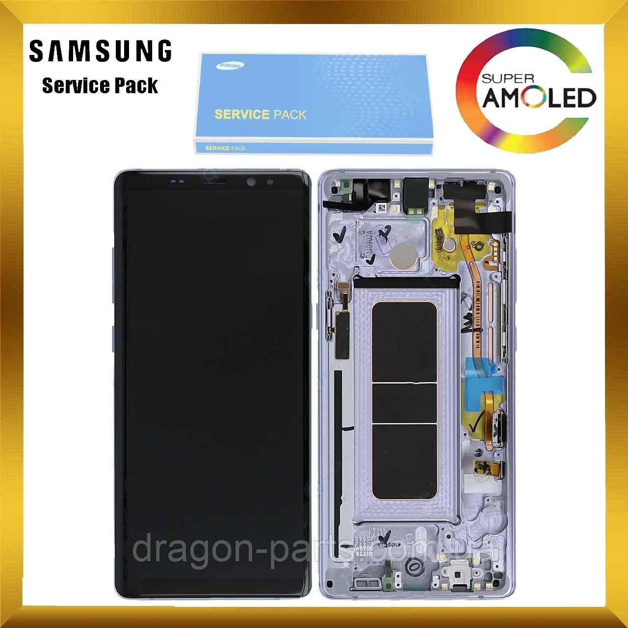 Дисплей Samsung N950 Galaxy Note 8 с сенсором Серый Grey оригинал, GH97-21065C