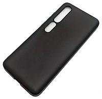 Чохол для Чохол для Xiaomi Mi 10 5G силіконовий матовий чорний Silicone Case Matte Ultra Slim