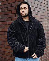 Куртка демисезонная мужская Yard вельветовая черная
