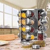 Набор емкостей баночек для специй на вращающейся подставке карусель 16 шт Spice Carousel