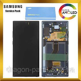 Дисплей Samsung N975 Galaxy Note 10 Plus + з сенсором Чорний Black оригінал, GH82-20838A