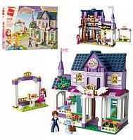 Конструктор Лего для девочек Королевский замок с библиотекой, 422 детали, аналог LEGO, Qman 2608Q