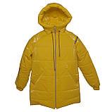 Яскрава стильна підліткова куртка з плащової тканини демисезон на дівчинку з капюшоном весна-осінь від виробника, фото 4