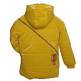 Яскрава стильна підліткова куртка з плащової тканини демисезон на дівчинку з капюшоном весна-осінь від виробника, фото 6