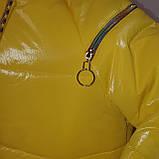 Яскрава стильна підліткова куртка з плащової тканини демисезон на дівчинку з капюшоном весна-осінь від виробника, фото 5