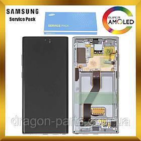 Дисплей Samsung N975 Galaxy Note 10 Plus + з сенсором Сріблястий Silver оригінал, GH82-20838C