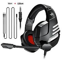 Геймерские наушники с поворотным микрофоном проводная игровая гарнитура 120 см  для ноутбука телефона PS4 Xbox, фото 1