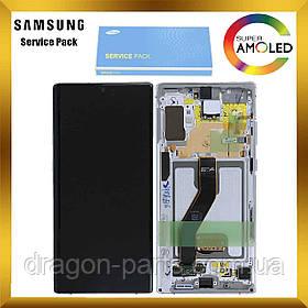 Дисплей Samsung N975 Galaxy Note 10 Plus + з сенсором Білий White оригінал, GH82-20838B