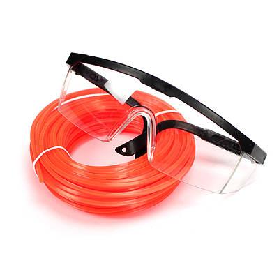 Защитные очки + леска 2.4мм 15м