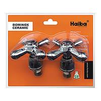 Ручки з кранбуксами (пара) HAIBA DOMINOX (кераміка)