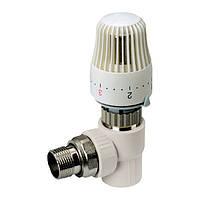 Термостатичний Кран з термоголовкою кутовий 20-1/2 PPR KOER