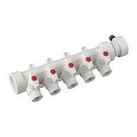 Коллектор 5-way с шаровыми кранами (40-20) PPR KOER
