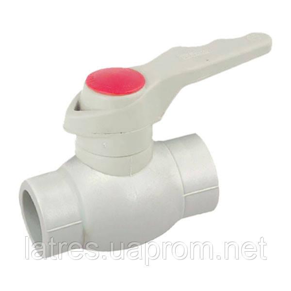 Кран кульовий PPR КШ (ручка) для гарячої води 20 KOER