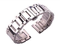 Браслет для часов из нержавеющей ювелирной стали 316L, литой, глянец. 22 мм, фото 1