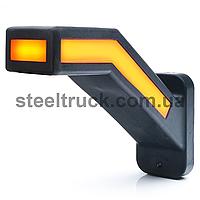 Фонарь габаритный рог LED 12-24V, 19 см, задний габарит - указатель поворота, левый, (WAS)