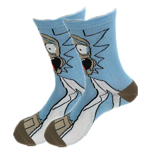 Мультяшные высокие мужские носки Рик и Морти