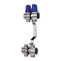 """Колекторний блок з термостатичними клапанами KOER 1100-02 1""""-2 WAYS"""