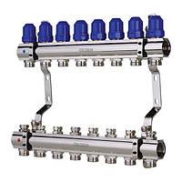 """Коллекторный блок с  термостатическими клапанами KOER 1100-08 1""""-8 WAYS"""