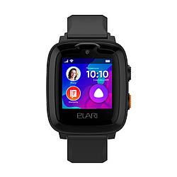 Детские смарт-часы Elari KidPhone 4G Black с GPS-трекером и видеозвонками (KP-4GB)