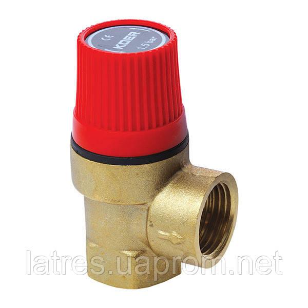 Запобіжний клапан 1.5 BAR KOER 1260