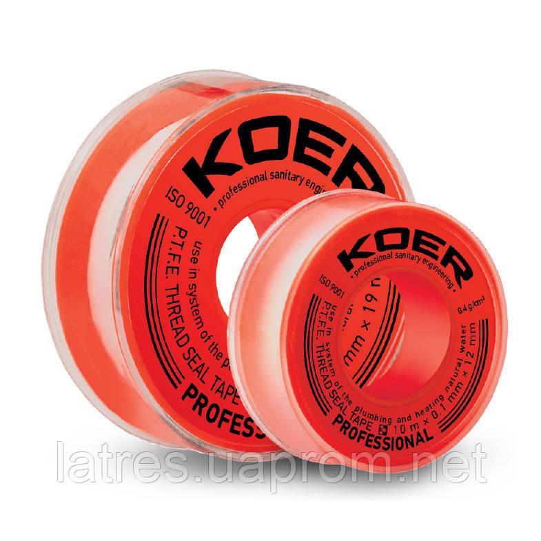 ФУМ стрічка для води KOER ST-11 10M*0.1 mm*12mm