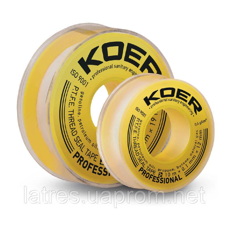 ФУМ лента для газа KOER ST-12 10M*0.1mm*12mm