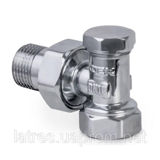 Вентиль радіаторний кутовий (хромований) 1/2-1/2 (KOER 902.CHR)