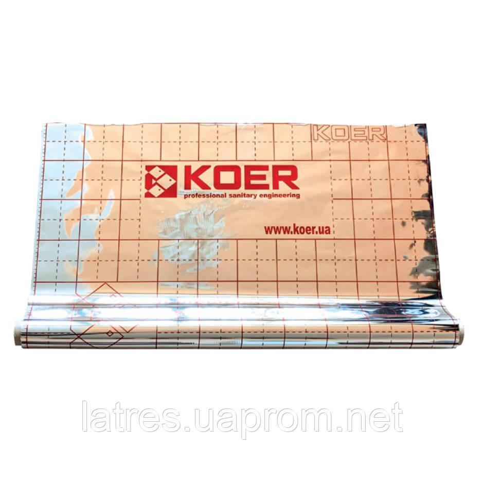 Плівка тепловідбивна металізована з розміткою KOER (рулон 50 м)