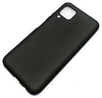 Чохол для Huawei P40 lite силіконовий матовий чорний Silicone Case Matte Ultra Slim