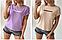 Жіноча футболка з віскози однотонна великі розміри, фото 2