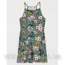 Платье сарафан Цветы H&M на девочку р.146/152