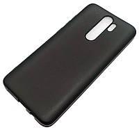 Чохол для Xiaomi Redmi Note 8 Pro силіконовий матовий чорний Silicone Case Matte Ultra Slim