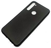 Чохол для Xiaomi Redmi Note 8 силіконовий матовий чорний Silicone Case Matte Ultra Slim