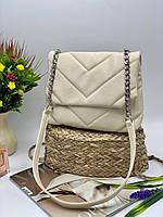 Жіноча сумка на плече 11-20 молочний Жіночі клатчі від Українського виробника купити недорого Одеса 7 км, фото 1