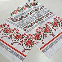 Свадебный рушник украинский с розами 42х150 см