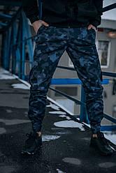 """Котоновые штаны """"Baza"""" Intruder камуфляж синий"""