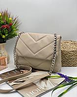 Жіноча сумка на плече 11-20 бежевий Жіночі клатчі від Українського виробника купити недорого Одеса 7 км, фото 1