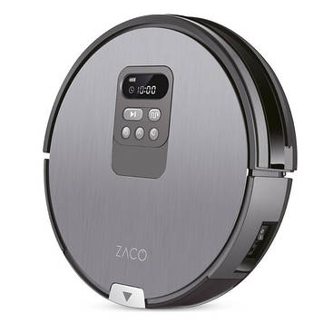 Робот-пылесос с влажной уборкой Zaco V80 Silver Grey