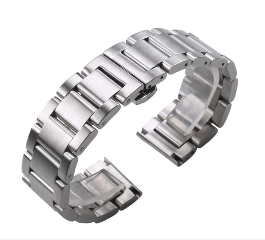 Браслет для годинника з нержавіючої сталі 316L, литий, мат. 21 мм
