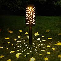Декоративный садовый светильник на солнечной панели. Звезды.