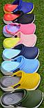 Детские шлепанцы кроксы сабо crocs purple розовые салатовый  р24-29, фото 2