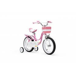 Дитячий велосипед Royal Little Baby Swan Steel RB16-18 РОЖЕВИЙ