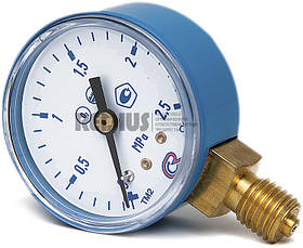 Манометр кисневий 2,5 МПа вихідного тиску (Латвія)